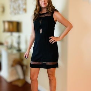 Forever 21 Black See Through Night Out Mini Dress